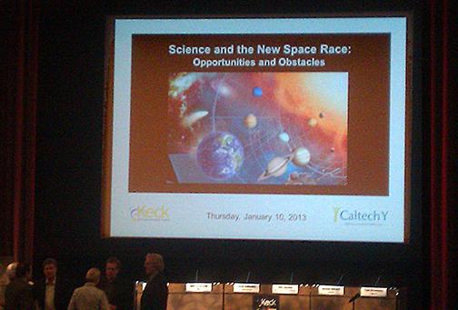 Jan. 10, 2013 Beckman Auditorium at Caltech, Pasadena