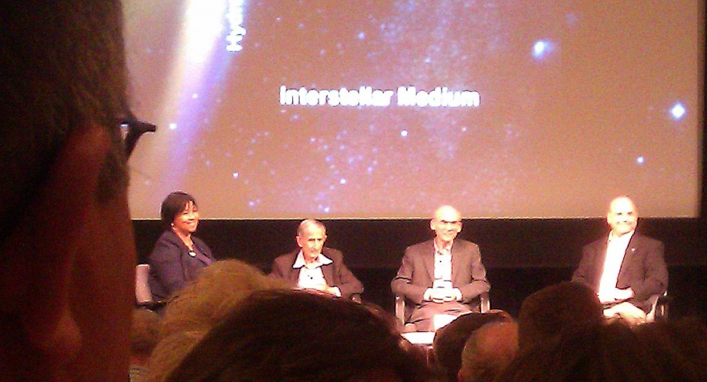 photo Dr. Mae Jemison; Prof. Freeman Dyson; Prof. Ed Stone; Dr. Leon Alkalai